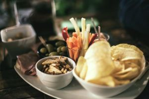 Party Snacks Olives Chips